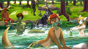 Forest Swimming