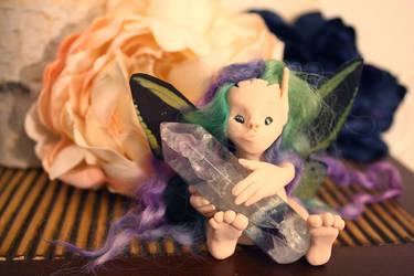 Fairy royalty crystal wand by purpleravenwings