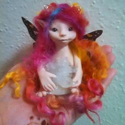 Lovely Locks ooak fairy by purpleravenwings