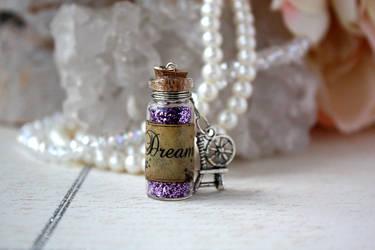Dream Potion Vial Necklace by purpleravenwings