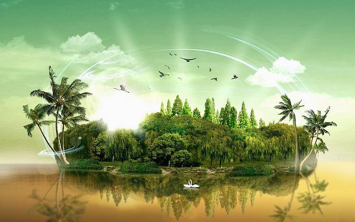 Paradise Island by AryChh