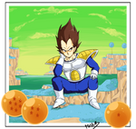 Prince Vegeta on planet Namek
