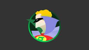 Minimalist Retro Green Lantern