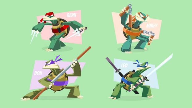 Minimalist Teenage Mutant Ninja Turtles (4K)