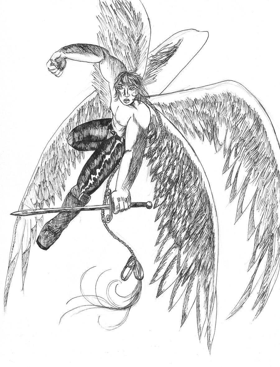 Warrior Angel by InsaneAngelArt on DeviantArt