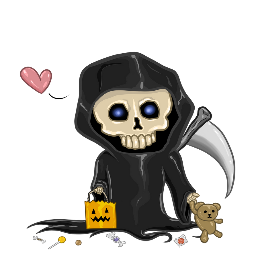 Lil Grim's Trick or Treat by InsaneAngelArt