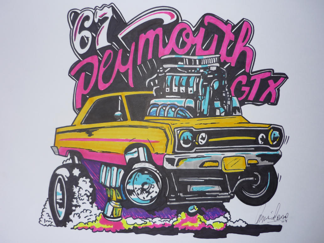 Plymouth Gtx Drawing By Milamomachine On Deviantart
