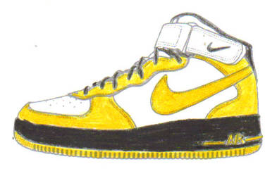 air forces 1's by tazz1202