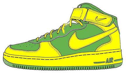 green and yellow af1
