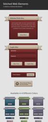 Stitched Web Elements by Stembimo