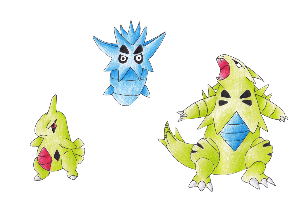 So I decided to play Pokémon Black/White2 again ... Larvitar Evolution Chart