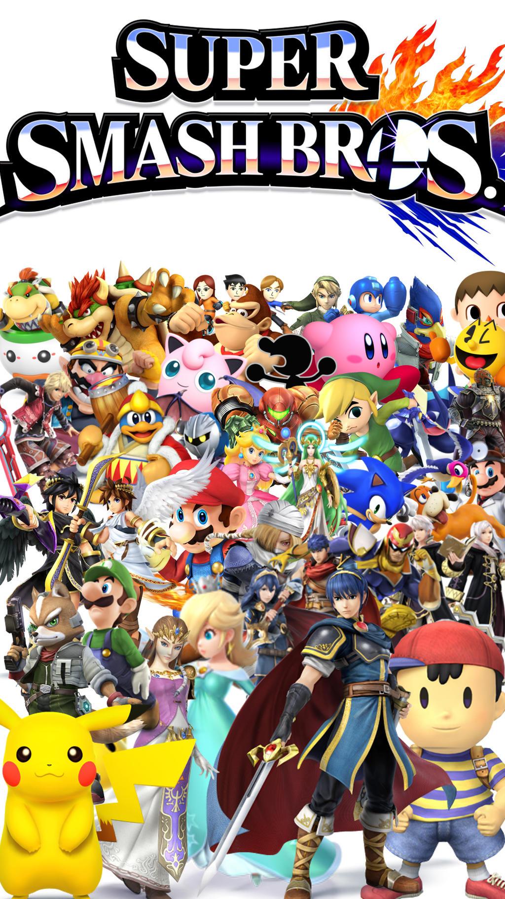 Super Smash Bros 4 Phone Wallpaper By Bestselenana On Deviantart