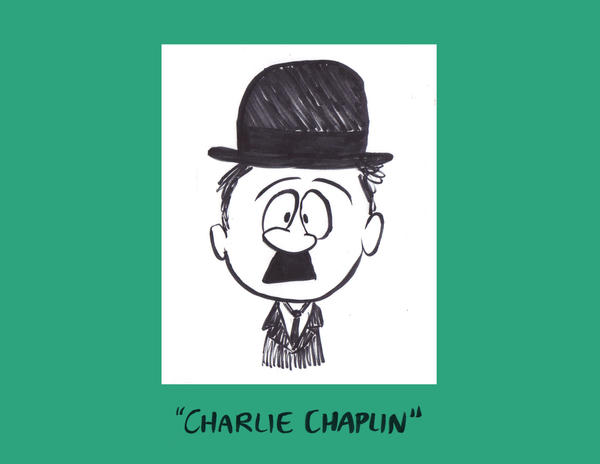 Charlie Chaplin Caricature by Sherkeylock