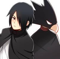 Sasuke and Tokoyami by CooliSushi