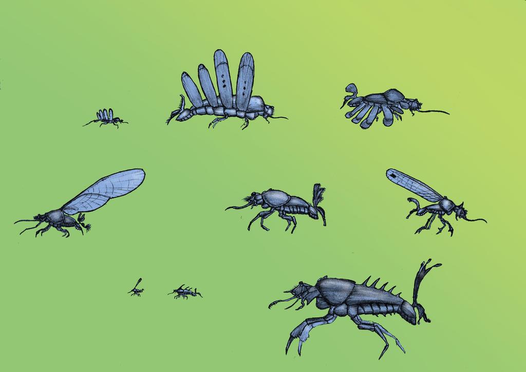 Serentopian Insectoids by Hyrotrioskjan
