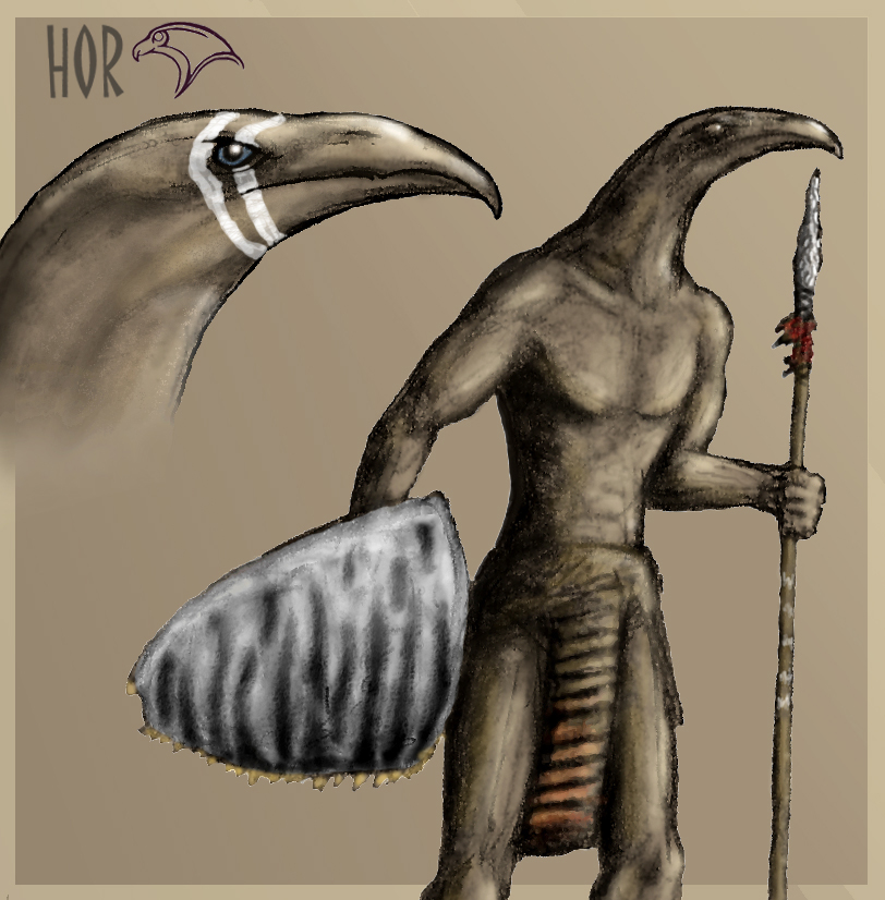 Horus warrior by Hyrotrioskjan