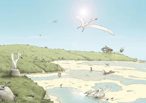 Dsungaripterus beach