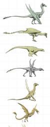 Dragons of the world by Hyrotrioskjan