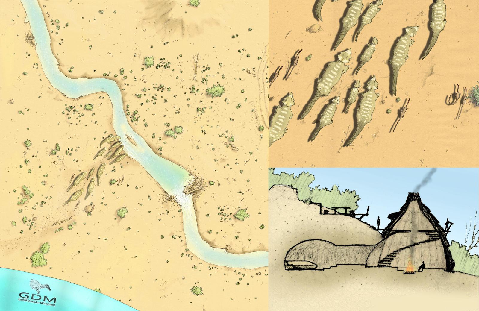 Udanoceratops paragliding by Hyrotrioskjan