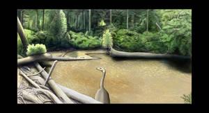 Nanshiungosaurus pond