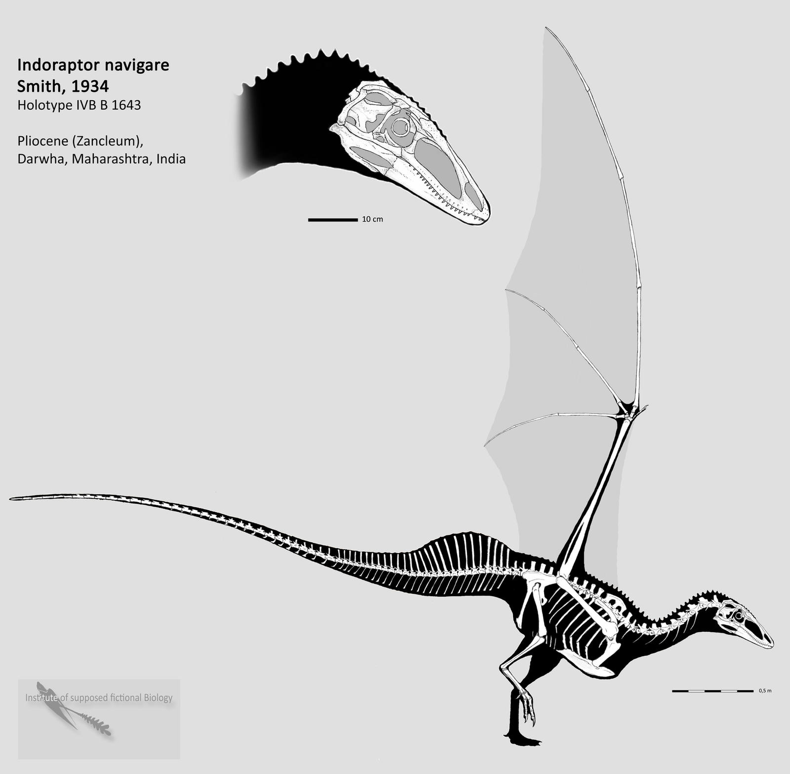 Indoraptor complete skeleton by Hyrotrioskjan