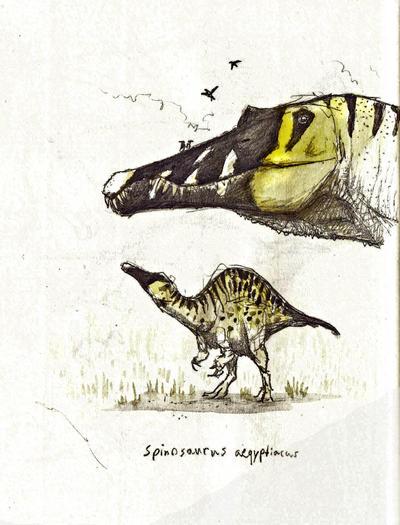 Spinosaurs sketch by Hyrotrioskjan