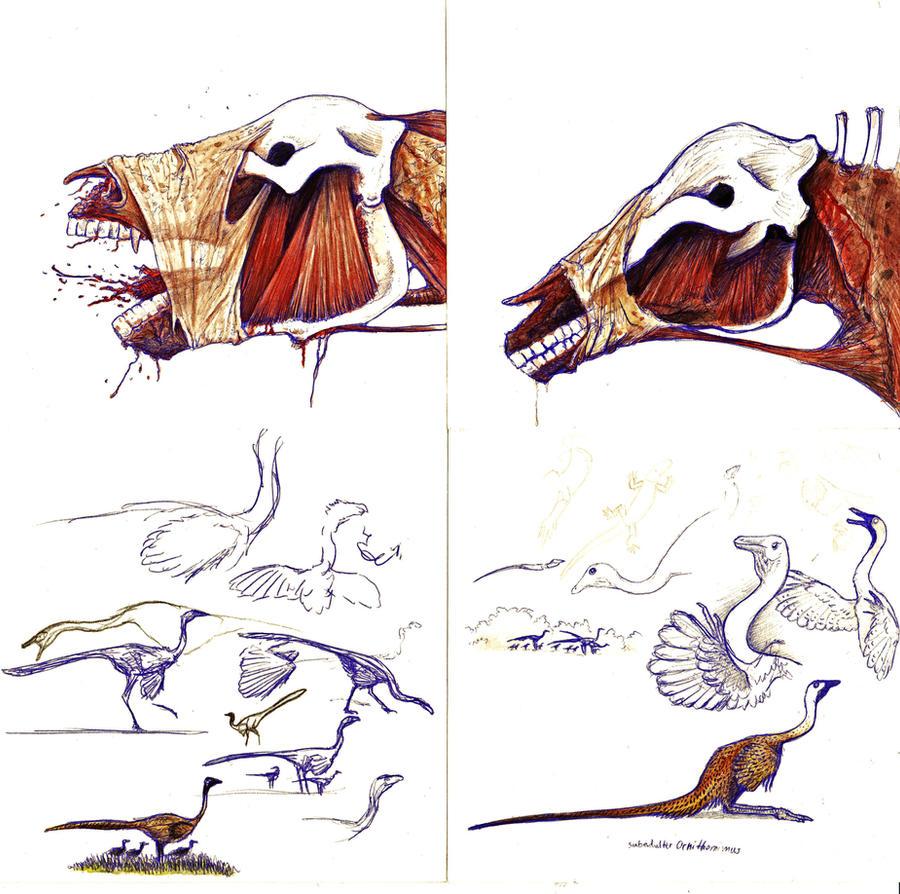 more Ornithomimus and... something else by Hyrotrioskjan