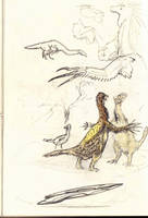 Therizinosaurus by Hyrotrioskjan