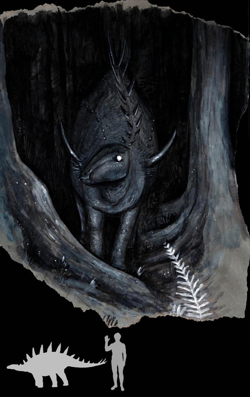 Nocturnal stegosaur by Hyrotrioskjan