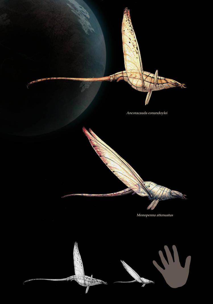 Silvanian flying Pseudo-athropods by Hyrotrioskjan