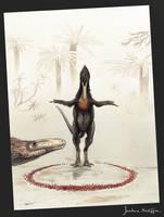 The dwarfed Bowertyrant- Xiongguanlong baimoensis by Hyrotrioskjan