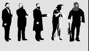 Scale bar scientists by Hyrotrioskjan