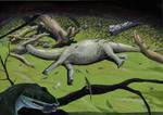 Knoetschkesuchus in its natural environment