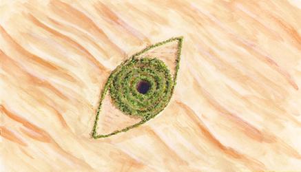 Eyes of the desert by Hyrotrioskjan