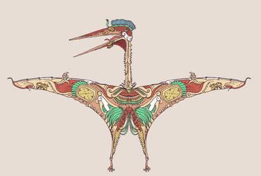 Mayan Azhdarchid by Hyrotrioskjan