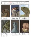 6 Dino Characters