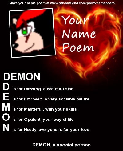 Demons name poem by Fandom-Daydreams on DeviantArt