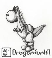 Yoshi [pencilwork] by Dragonfunk7