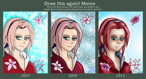 Sakura [Draw this again meme] by Dragonfunk7