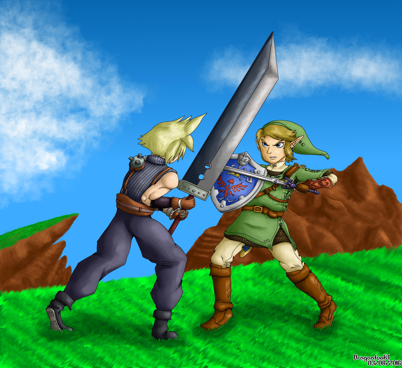 Cloud VS Link by Dragonfunk7