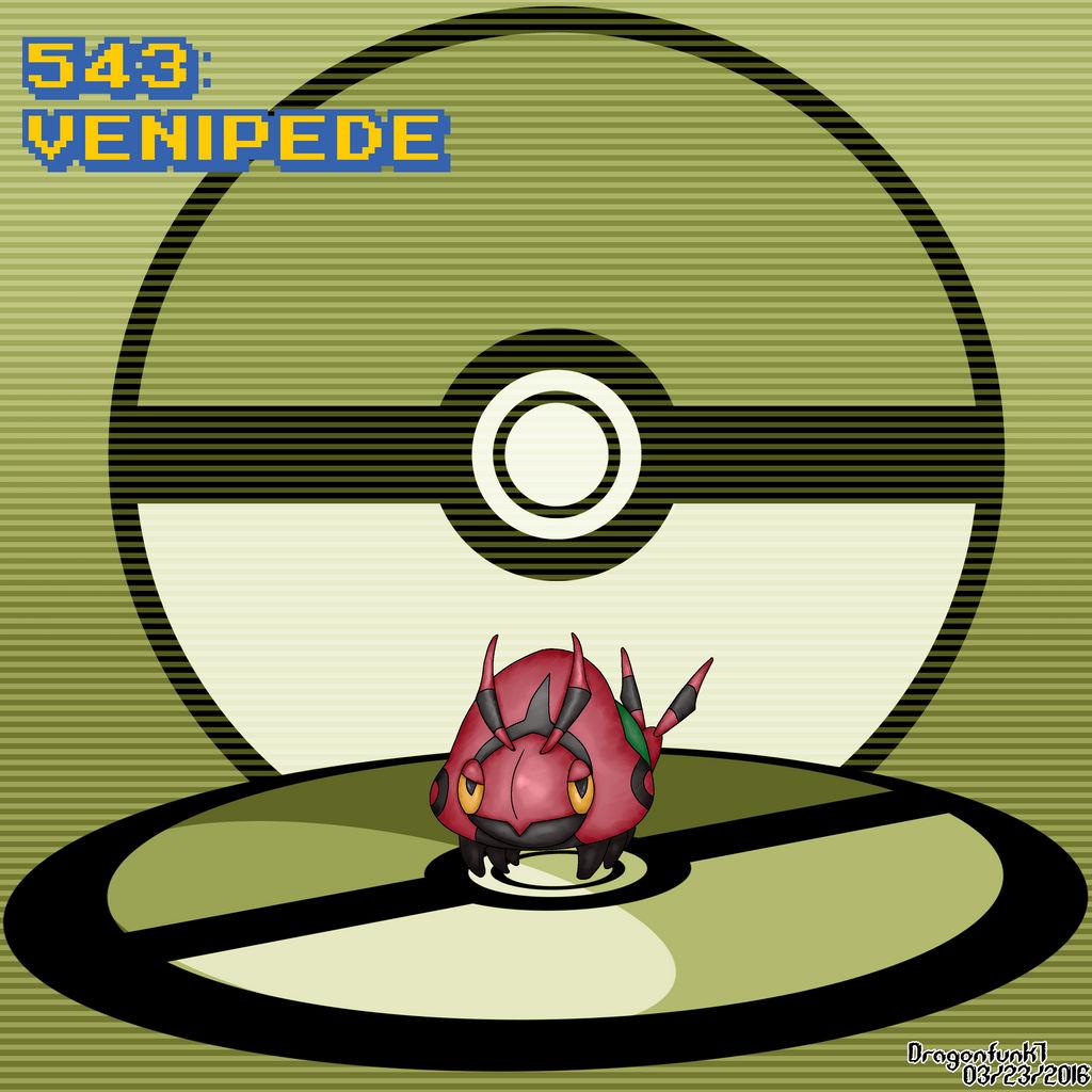 #543 Venipede by Dragonfunk7