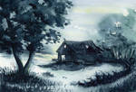 Early hours - Old hut