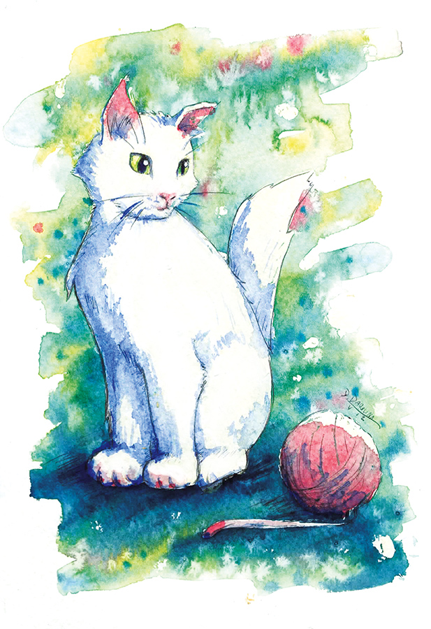 White kitty - playing by doma22