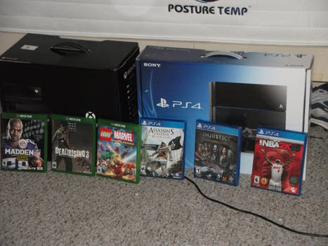 XBox One and PS4 plus the games Photo 1