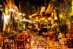 Plaka Athens by night