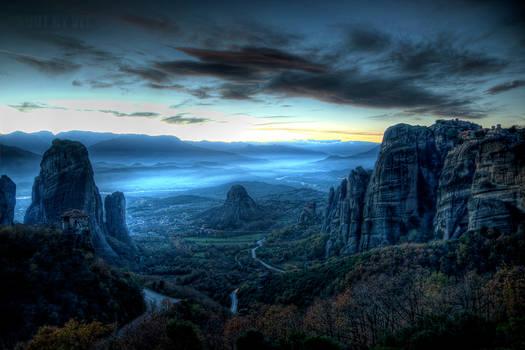 Dusk At Meteora