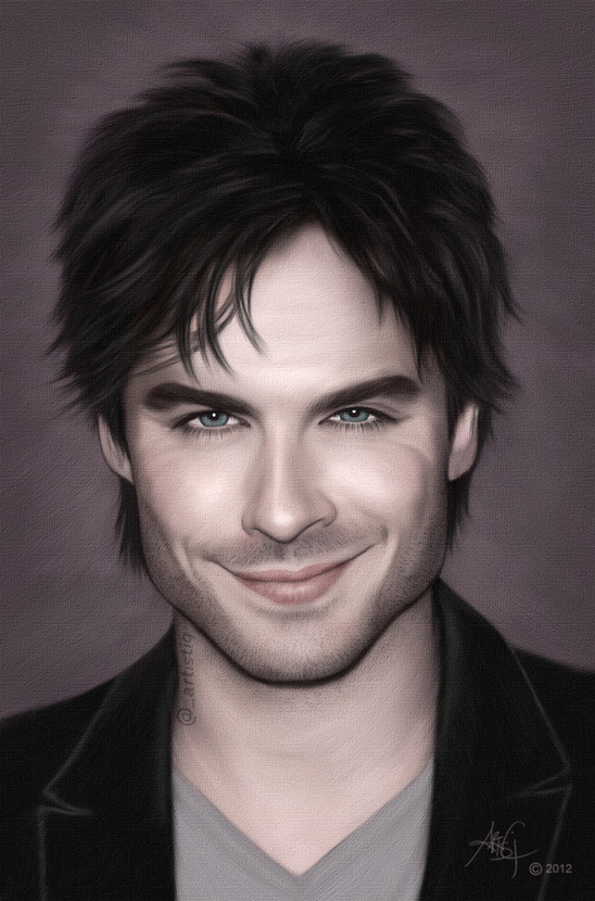 Ian somerhalder by artistiq me on deviantart - Vampire diaries dessin ...