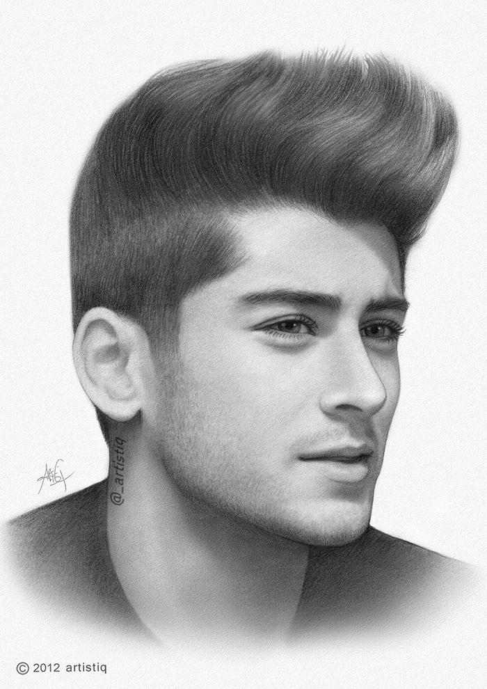 Zayn Malik by artistiq-meZayn Malik Drawing Of Justin Bieber