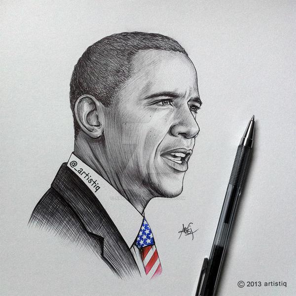 Obama by artistiq-me