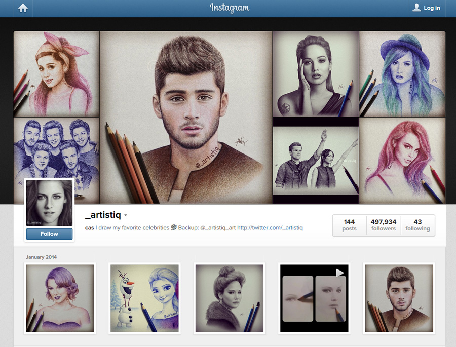 Instagram Screenshot by artistiq-me